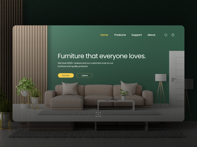 Furniture Website Landing Page popular design illustration web page webdesign landing page landing desktop ux user interface interface design web web interface website ui minimal app
