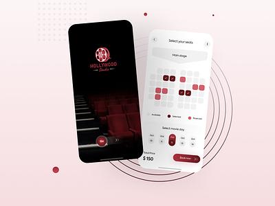 Cinema App - UI Design mobile app design illustration popular design uiux mobile appdesign new minimal design iosapp ios app cinema ux ui animation graphic design