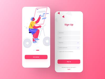 Sign Up - UI Design minimalism ios design animation login registration android ios ux new post graphic design branding design uiux mobile app design app ui illustration popular design minimal