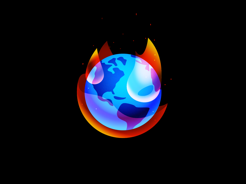 Global Warming climate change flame fire global warming planet illustration vector minimal