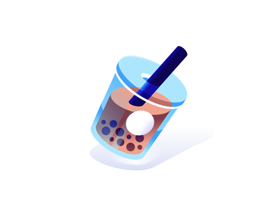 Bubble Tea illustration vector minimal cup drink milk tea bubble boba
