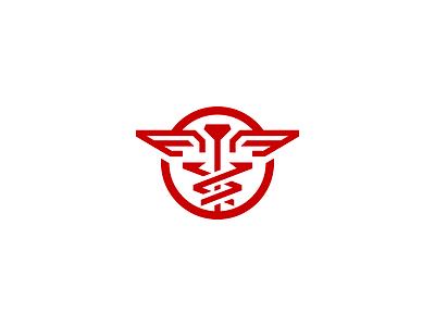 Caduceus medical caduceus logo minimal