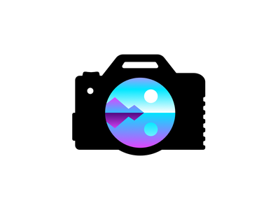 Camera photography camera vector minimal illustration