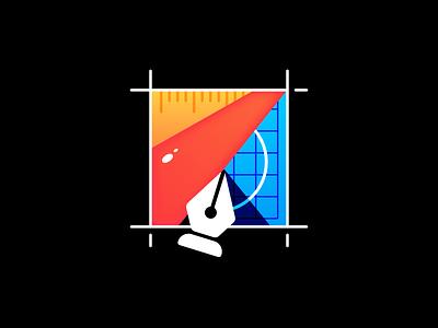 Framed Design frame designer edit flat illustration vector pen tool create make design