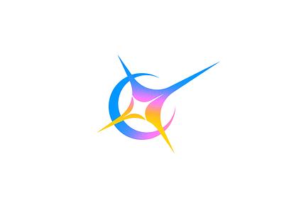 Flash Logo minimal startup shine bright flash vector icon flare logo
