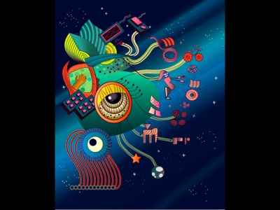 Series : Surreal vibrations of nature icon ui design website vector ux procreate app procreate adobe-illustrator illustration