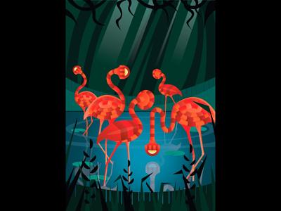 Series : Surreal vibrations of nature branding icon design website vector ux procreate app procreate adobe-illustrator illustration