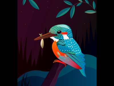Series : Surreal vibrations of nature kingfisherart kingfisher nature illustration natural surreal birdillustration bird wildlife nature adobe photoshop branding design website vector ux procreate app procreate adobe-illustrator illustration