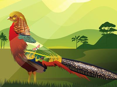The Golden Pheasant figma adobe photoshop branding icon design vector website ux procreate procreate app adobe-illustrator illustration