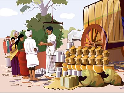 Series : Indian Villages web adobe photoshop design website ux vector procreate procreate app adobe-illustrator illustration