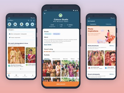 Mobile application for all kinds of photographic needs appflow vectordesign mobileappdesign productdesign uxdesigner uxdesign uidesign