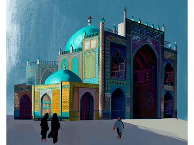 Blue Mosque ( Mazar-i-Sharif ) lettering icon typography adobe photoshop identity branding web mobile app vector ux design website procreate procreate app adobe-illustrator illustration illustrator