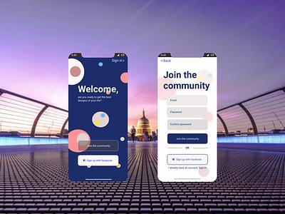 Sign up UI design app ui