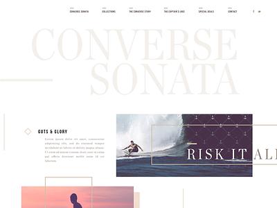 Converse 2015 aharmon tmbr webdesign converse sonata surf beach ocean lifestyle sports