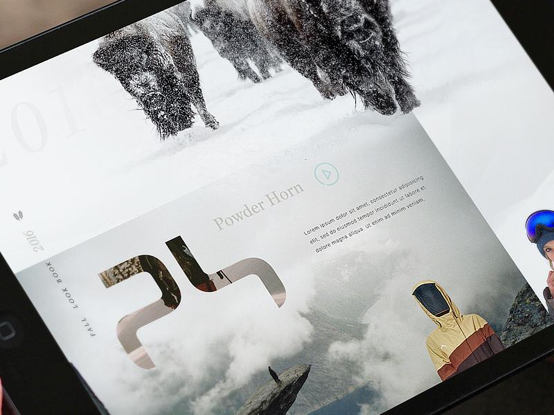 Powderhorn Sneak clothing winter apparel web design aharmon tmbr