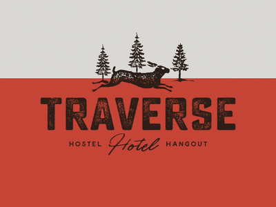 Traverse Logos Retro Color camping lodging hostel hotel distressed hipster retro vintage design logo aharmon