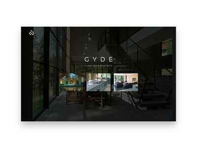 GYDE // Gilday Yehia Design elegant classical sophisitcated minimal architecture webdesign web design after effects motion