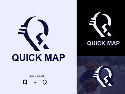 Quick Map minimal maps quick map map logo design logo design logo