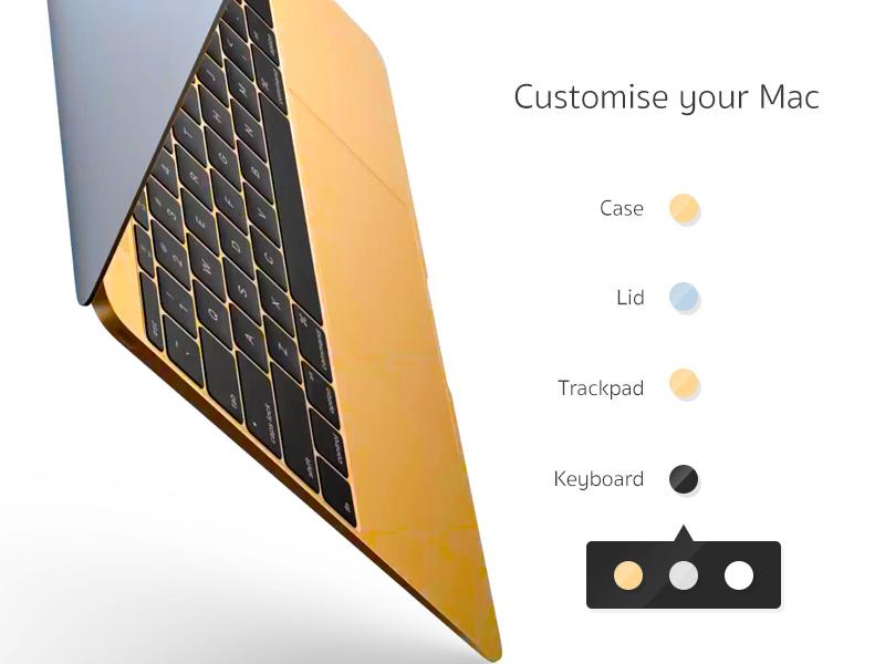 Daily UI 033 - Customise Product mac dailyui033 dailyui
