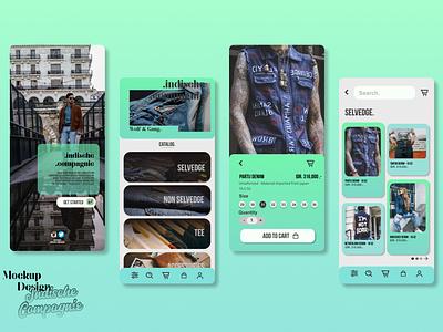 E-commerce Web App - Indische Compagnie iphone figma vector design mobile design figma mobile e-commrce app e-commerce apps application adobexd