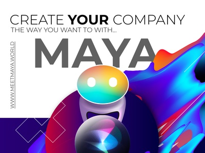 The creatives of Maya ux animation design app branding illustration