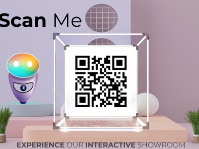 Scan To Meet Maya's Experience logo entrepreneur business interactive ces2021 branding app