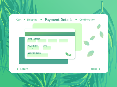 DailyUI #002: Plant Shop Credit Card Checkout ui design uidesign ui credit card checkout dailyuichallenge dailyui 002 dailyui