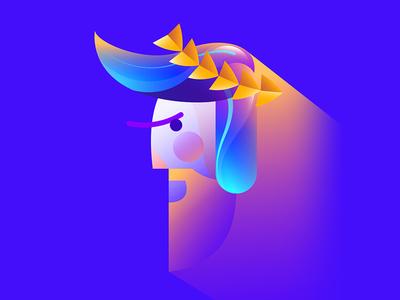 Roman affinity history roman illustration icon character avatar