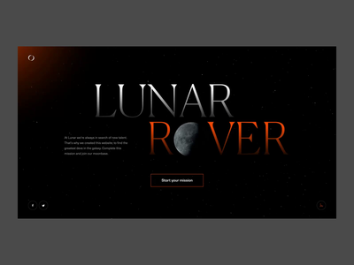 Lunar Rover employer campaign lunar moon mission space motion animation ux ui web website web design
