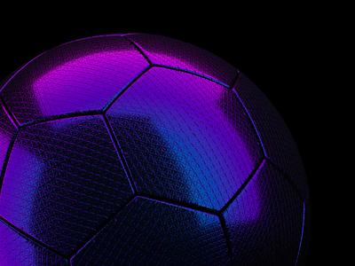 ⚽ texture iridescent sports soccer football ball octane 3d c4d motion animation