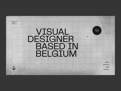 Glenn Catteeuw — Portfolio 2020 portfolio design homepage preloader noise pyramid 3d texture grid typography motion animation interaction ux ui web website web design