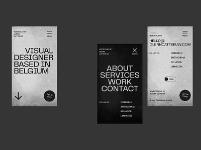 Glenn Catteeuw — Portfolio 2020 design menu homepage noise portfolio typography texture mobile ux ui web website web design