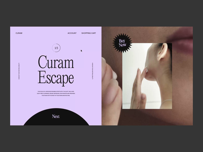 Curam — Product Carousel health beauty after effects animation motion ecommerce shop product page carousel ux ui web website web design