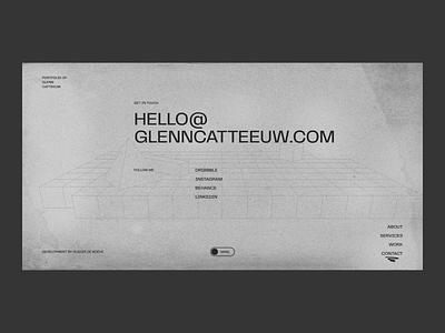 Glenn Catteeuw — Portfolio 2020 motion animation texture webgl neon toggle grid ux ui personal portfolio web website web design
