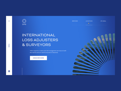 DPS iris blue gradient corporate marine design user experience user interface ux ui web design website web