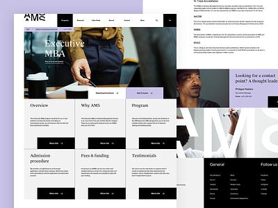 AMS — Experienced Professionals Program Detail school management corporate business ux ui website web design web
