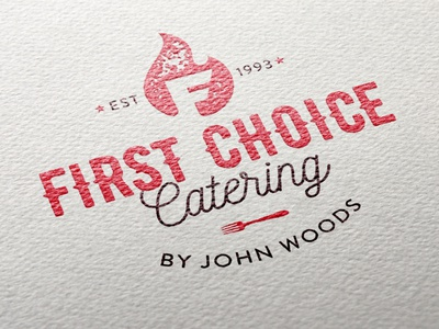 First Choice Catering Logo adobe illustrator typography design logo illustrator graphic design branding