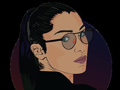 Bella Hadid Portrait vector vector art illustration design art portrait bella