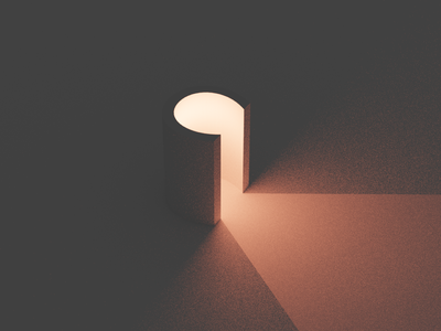 36 Days Of Type - C typo design minimal typography clean color illustration colors solid light blender 3d type 36daysoftype