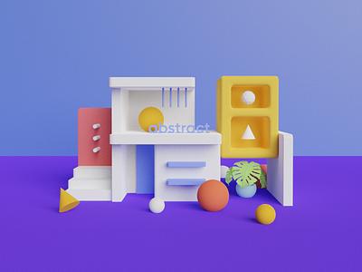 abstract ui icon design vector illustration illustraion blender color minimal