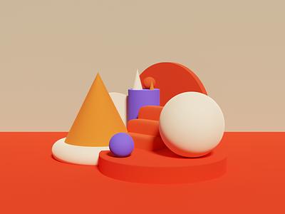 shapes 3D green vector design icon plants blender illustration clean color shapes 3d minimal
