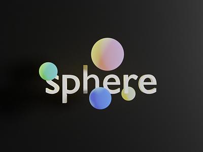sphere 3d blender typography design minimal