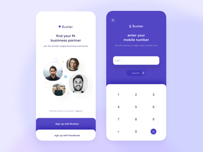 sign up with number 001 dailyui app mobile ui design signup