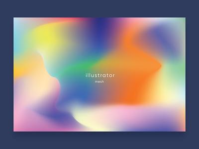mesh coloful minimal vector design illuatration meshtool