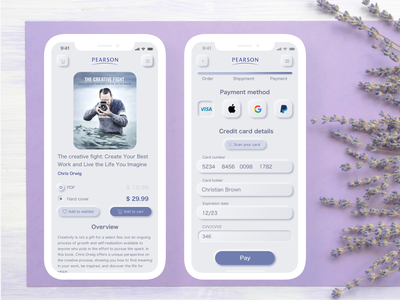 Book store app neomorphism daily 100 challenge daily ui mobile app mobile ui ui design credit card checkout app design buying payment method payment form ecommerce app ecommerce design store design mobile app design design