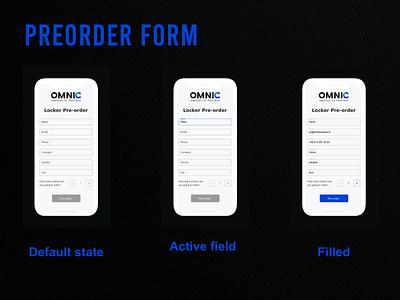 Preordering form mobile app design marketing design app design ui design ui design inputs marketing states form design order preorder uidesign input field