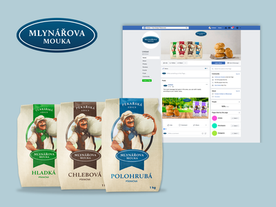 Facebook banner flour brand identity banner design banner ad ui branding web ui design design marketing campaign marketing facebook ad