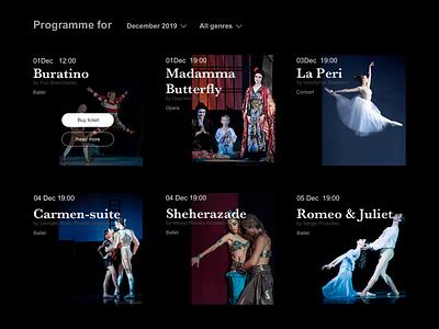 Programme of theatre billboard design poster design opera theatre programme design web ui ui design design