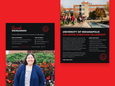 A brand for a friend who is a college campus missionary uindy college ministry christian one page site chi alpha christian fellowship campus missions campus missionary chi alpha prayer cards brand design brand