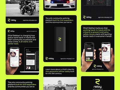 Relay Responder Ad Ideas brand marketing design marketing digital design typography relay design ads design ads relay responder relay